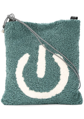 Tu Es Mon Trésor fleece power on bag - Green
