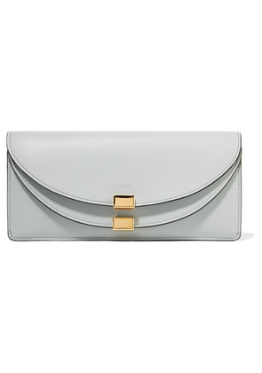 Chloé - Georgia Textured-leather Continental Wallet - Light blue
