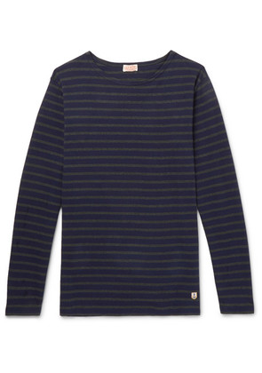 Armor Lux - Striped Cotton-jersey T-shirt - Navy