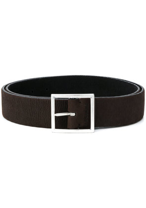 Orciani squared buckle belt - Brown