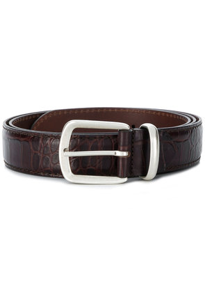 Corneliani classic buckle belt - Brown