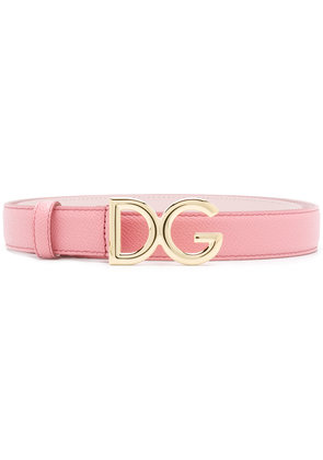 Dolce & Gabbana DG logo buckle belt - Pink & Purple