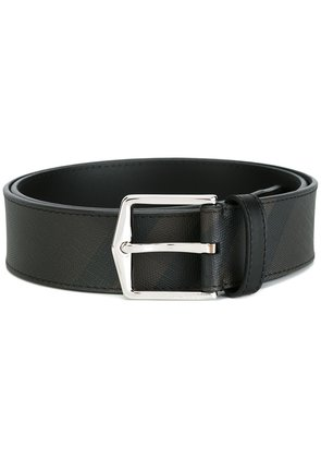 Burberry Leather Trim London Check Belt - Brown