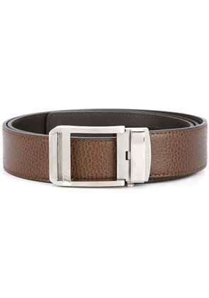 Cerruti 1881 slide buckle belt - Brown