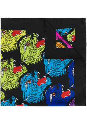Gucci angry cat scarf - Black