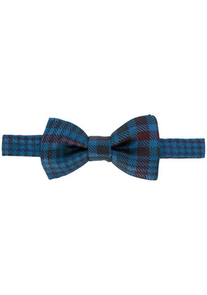 Valentino houndstooth bow tie - Blue
