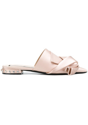 No21 twisted bow design slippers - Nude & Neutrals