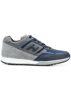 Hogan Bimaterial leather trainers - Blue