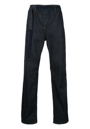 Sacai belted jeans - Blue