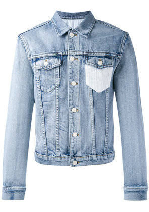 3.1 Phillip Lim Crochet-pocket denim jacket - Blue