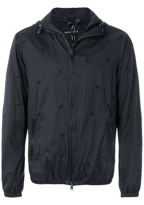 Emporio Armani hooded zip-up jacket - Blue