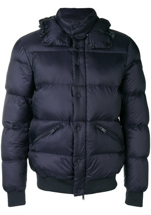 Emporio Armani padded hooded jacket - Blue