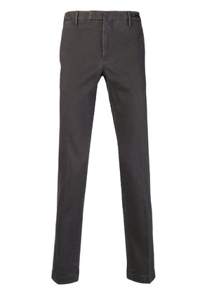 Pt01 washed effect slim-fit chinos - Grey