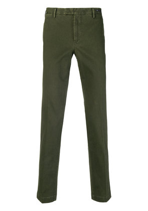 Pt01 washed effect slim-fit chinos - Green