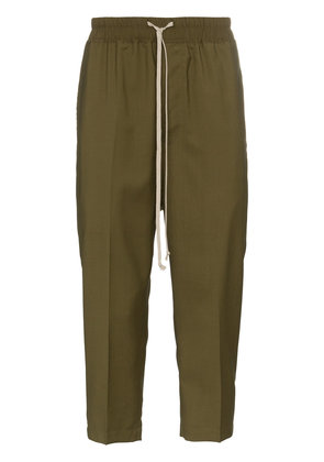 Rick Owens Drawstring Cropped Trousers - Green