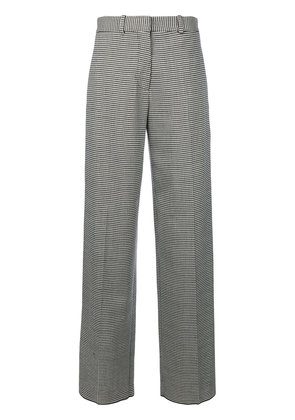 Victoria Beckham houndstooth pattern wide-leg trousers - Black