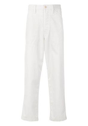 Lemaire cropped loose fit trousers - White