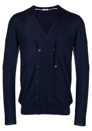 Paolo Pecora double breasted V-neck cardigan - Blue
