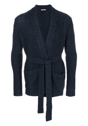 Nuur belted cardigan - Blue