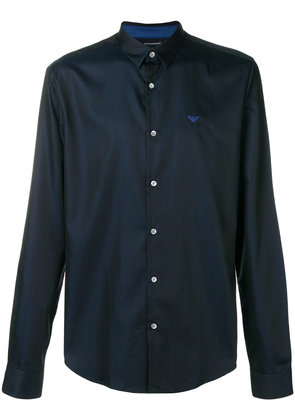 Emporio Armani plain button shirt - Blue