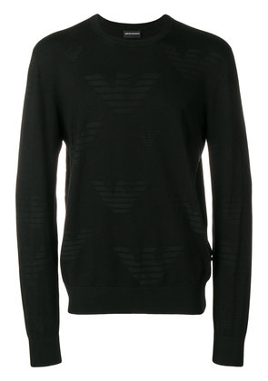 Emporio Armani round neck jumper - Black
