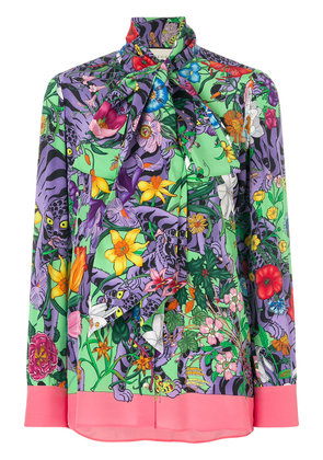 Gucci Flora Tiger print blouse - Multicolour