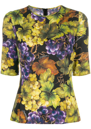 Dolce & Gabbana printed fitted top - Yellow & Orange