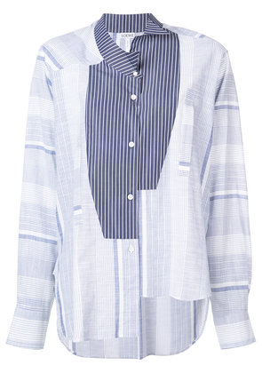 Loewe deconstructed striped shirt - Blue