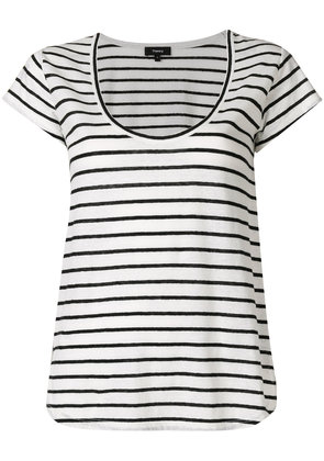 Theory striped scoop neck T-shirt - White