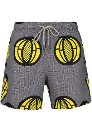 Okun Ali melon print swim shorts - Black