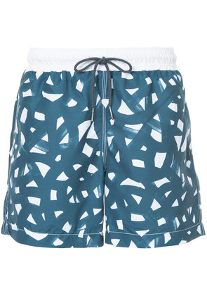 Venroy brush print swim shorts - Black