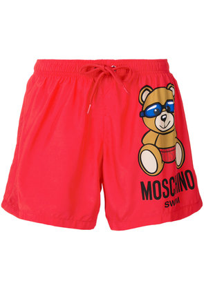 Moschino Toy Bear swim shorts - Red