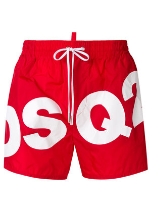 Dsquared2 drawstring logo swim shorts