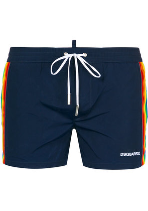 Dsquared2 rainbow web swimming shorts - Blue