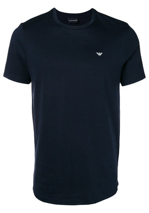 Emporio Armani embroidered logo T-shirt - Black