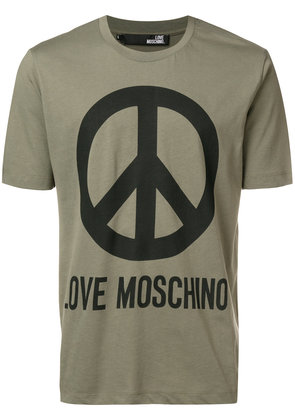 Love Moschino Peace printed T-shirt - Green