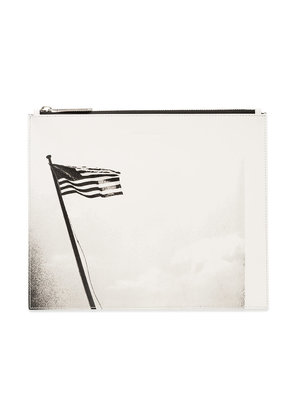 Calvin Klein 205W39nyc black and white american flag print leather