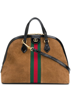 Gucci Ophidia medium top handle bag - Brown