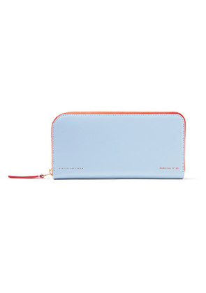 Victoria Beckham - Two-tone Leather Wallet - Sky blue