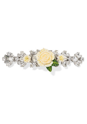 Dolce & Gabbana - Silver-plated, Resin And Crystal Hairclip - one size