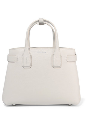 Burberry - Textured-leather Tote - White