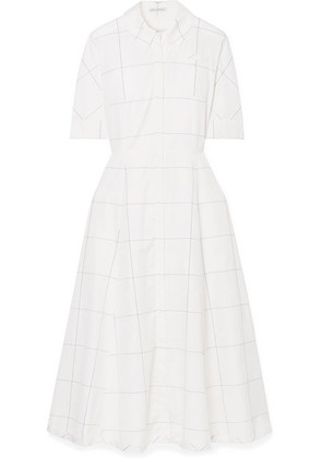 Emilia Wickstead - Janis Checked Cotton-poplin Dress - White
