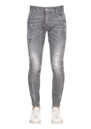 17CM TIDY BIKER GREY COTTON DENIM JEANS