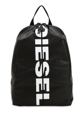 LOGO FRONT ZIP TECH FABRIC BACKPACK