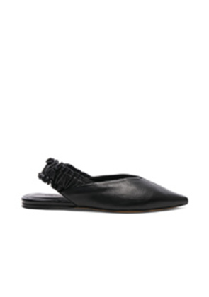 Isabel Marant Leather Linta Flats in Black