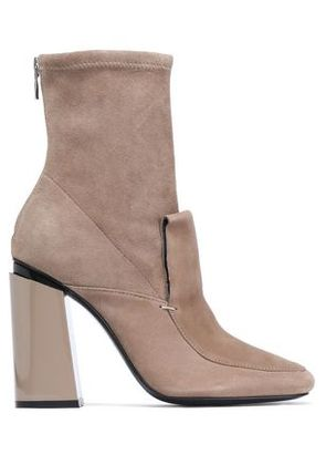Sigerson Morrison Woman Suede Ankle Boots Taupe Size 8.5