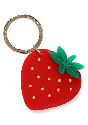Charlotte Olympia Woman Crystal-embellished Resin Keychain Red Size -