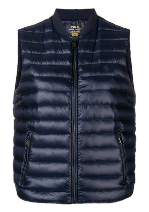 Polo Ralph Lauren logo embroidered padded gilet - Blue