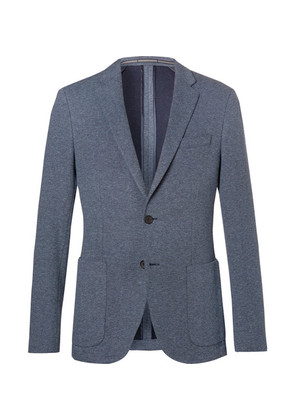 Light-blue Newon Cotton-jersey Blazer