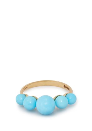 Turquoise & 18kt gold ring